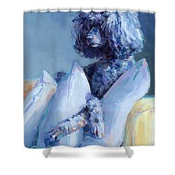 Ready For Her Closeup Shower Curtain by Kimberly Santini
