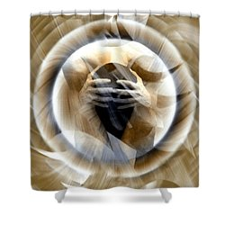 Rebirth Shower Curtain by Kurt Van Wagner