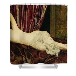 Reclining Nude Shower Curtain by Henri Fantin Latour