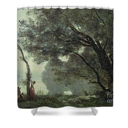 Recollections Of Mortefontaine Shower Curtain by Jean Baptiste Corot