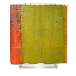 Red Green Yellow Shower Curtain by Michelle Calkins