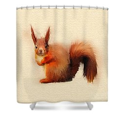 Red Shower Curtain by John Edwards