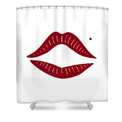 Red Lips Shower Curtain by Frank Tschakert