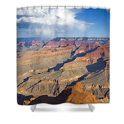 Red Storm Rising Shower Curtain by Mike  Dawson