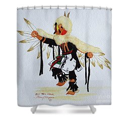 Red Tail Hawk Shower Curtain by Mary Rogers