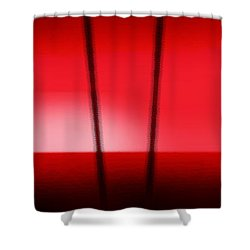 Red Tropical Abstract Sunset Shower Curtain by Gina De Gorna