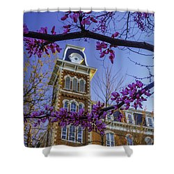 Redbud At Old Main Shower Curtain by Damon Shaw