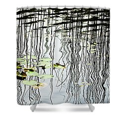 Reeds And Reflections Shower Curtain by Dave Fleetham - Printscapes