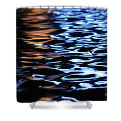 Reflection In Fountain Shower Curtain by Karol Livote