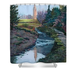 Reflections In History Shower Curtain by Mary Benke