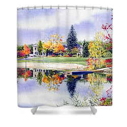 Reflections Of Home Shower Curtain by Hanne Lore Koehler
