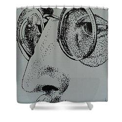 Reflections Of Peace John Lennon Shower Curtain by Carla Carson