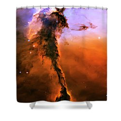 Release - Eagle Nebula 2 Shower Curtain by The  Vault - Jennifer Rondinelli Reilly