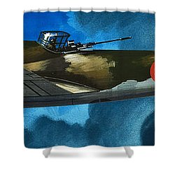French Aircraft Of World War II  French Bomber Shower Curtain by Wilf Hardy