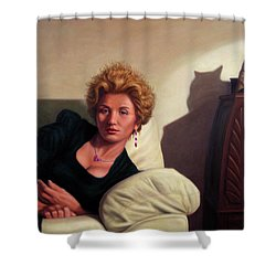 Repose Shower Curtain by James W Johnson