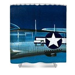 Republic P-47n Thunderbolt Shower Curtain by Wilf Hardy
