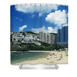 Repulse Bay Shower Curtain by Gloria and Richard Maschmeyer - Printscapes
