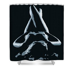 Resting Nude 1 - In Silver Shower Curtain by Gina De Gorna