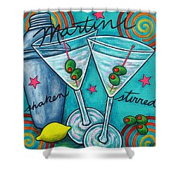 Retro Martini Shower Curtain by Lisa  Lorenz