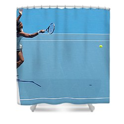 Return - Serena Williams Shower Curtain by Andrei SKY