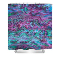 Rhythmic Waves Shower Curtain by Linda Sannuti