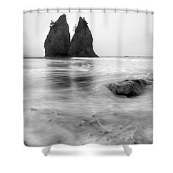 Rialto Reflections Shower Curtain by Mike  Dawson