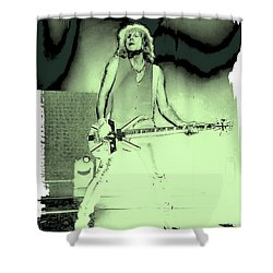 Rick Savage - Def Leppard Shower Curtain by David Patterson