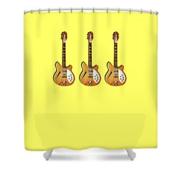 Rickenbacker 360 12 1964 Shower Curtain by Mark Rogan