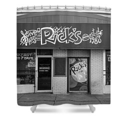 Rick's Cafe East Lansing  Shower Curtain by John McGraw