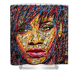 Rihanna Shower Curtain by Angie Wright