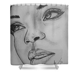 Rihanna Shower Curtain by Collin A Clarke