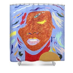 Rihanna Loud Shower Curtain by Stormm Bradshaw