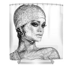 Rihanna Shower Curtain by Rafael Salazar
