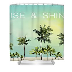 Rise And  Shine Shower Curtain by Mark Ashkenazi