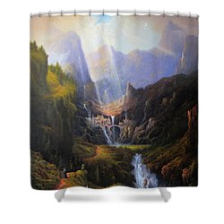 Rivendell. The Last Homely House.  Shower Curtain by Joe Gilronan