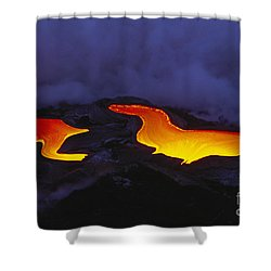 River Of Lava Shower Curtain by Peter French - Printscapes