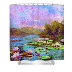 The Wonder Of Water Lilies Shower Curtain by Jane Small