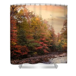 Riverbank Beauty Shower Curtain by Jessica Jenney