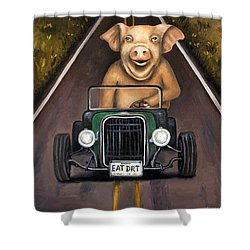 Road Hog Shower Curtain by Leah Saulnier The Painting Maniac
