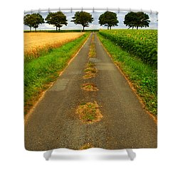 Road In Rural France Shower Curtain by Elena Elisseeva