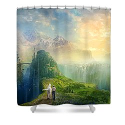Road To Oalovah Shower Curtain by Philip Straub