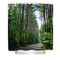 Roadway At Fish Creek Shower Curtain by Jerrold Carton