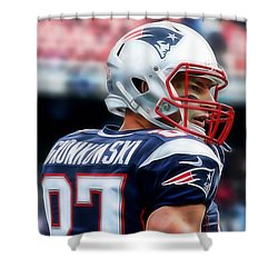 Rob Gronkowski Collection Shower Curtain by Marvin Blaine