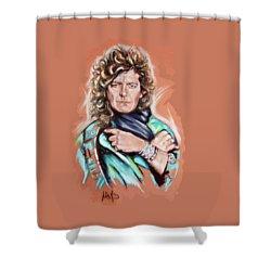 Robert Plant Shower Curtain by Melanie D