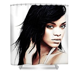 Robyn Rihanna Fenty Shower Curtain by The DigArtisT