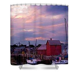 Rockport Sunset Over Motif #1 Shower Curtain by Jeff Folger