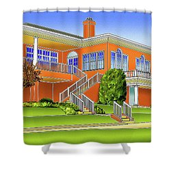Rolling Road Golf Club Shower Curtain by Stephen Younts