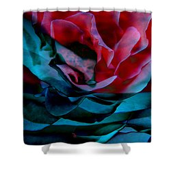 Romance - Abstract Art Shower Curtain by Jaison Cianelli