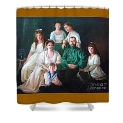 Romanov Family Portrait Shower Curtain by George Alexander