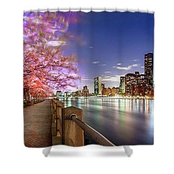 Romantic Blooms Shower Curtain by Az Jackson